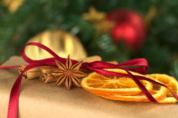 Kolut narandze Šuma u vašem domu: Novogodišnja dekoracija