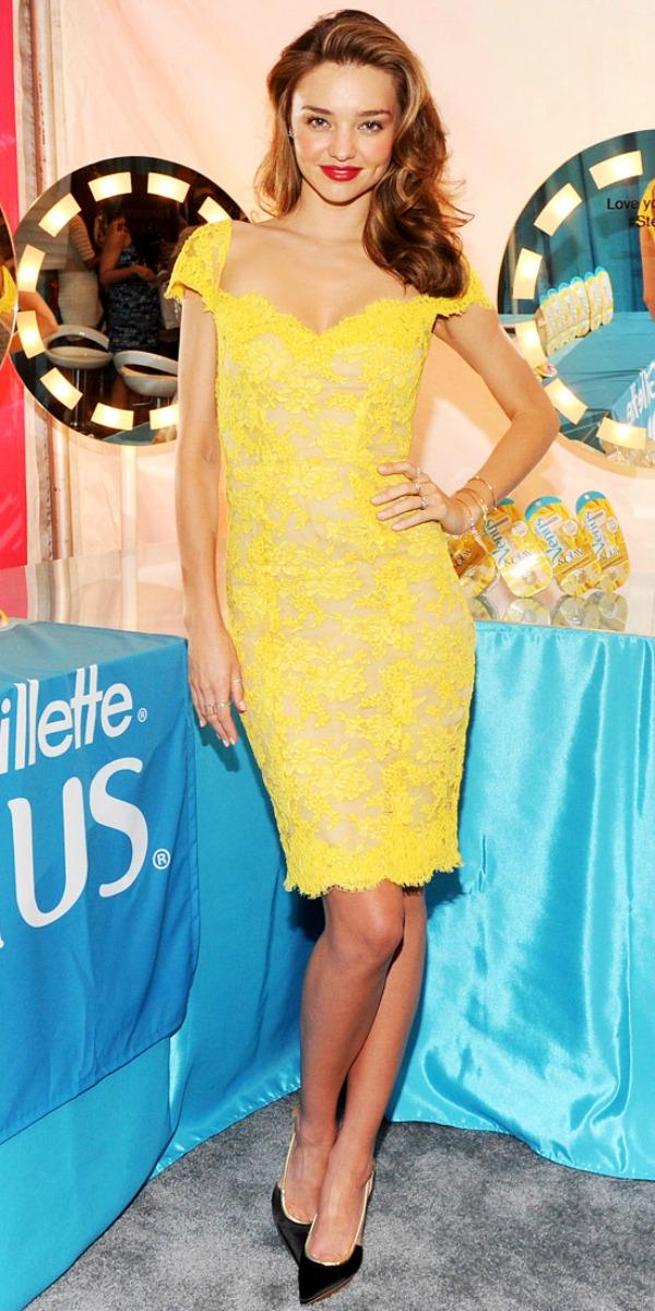 Miranda Kerr 5 Trend sa crvenog tepiha: Žute haljine