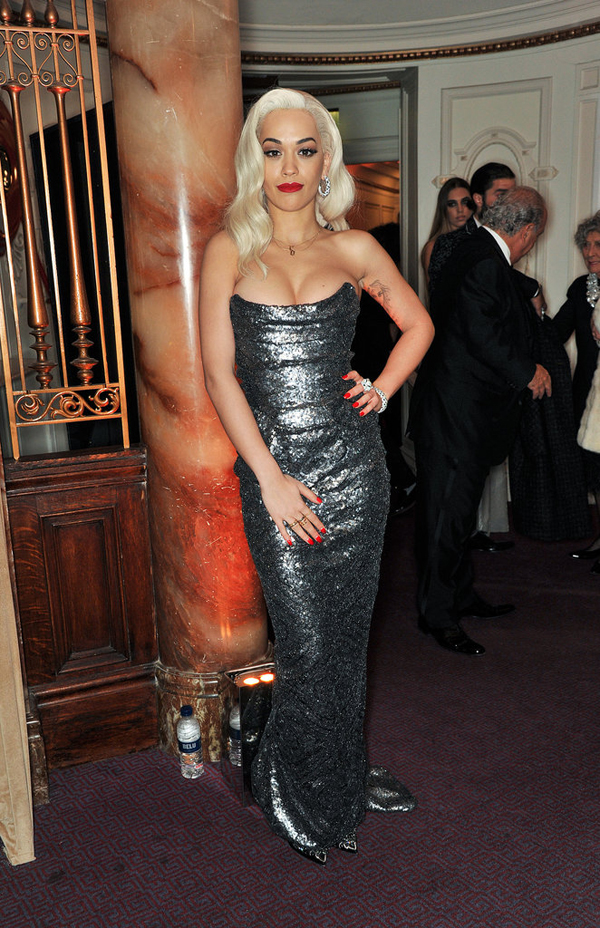 Rita Ora channelled old Hollywood glamor event Fashion Police: British Fashion Awards 2013