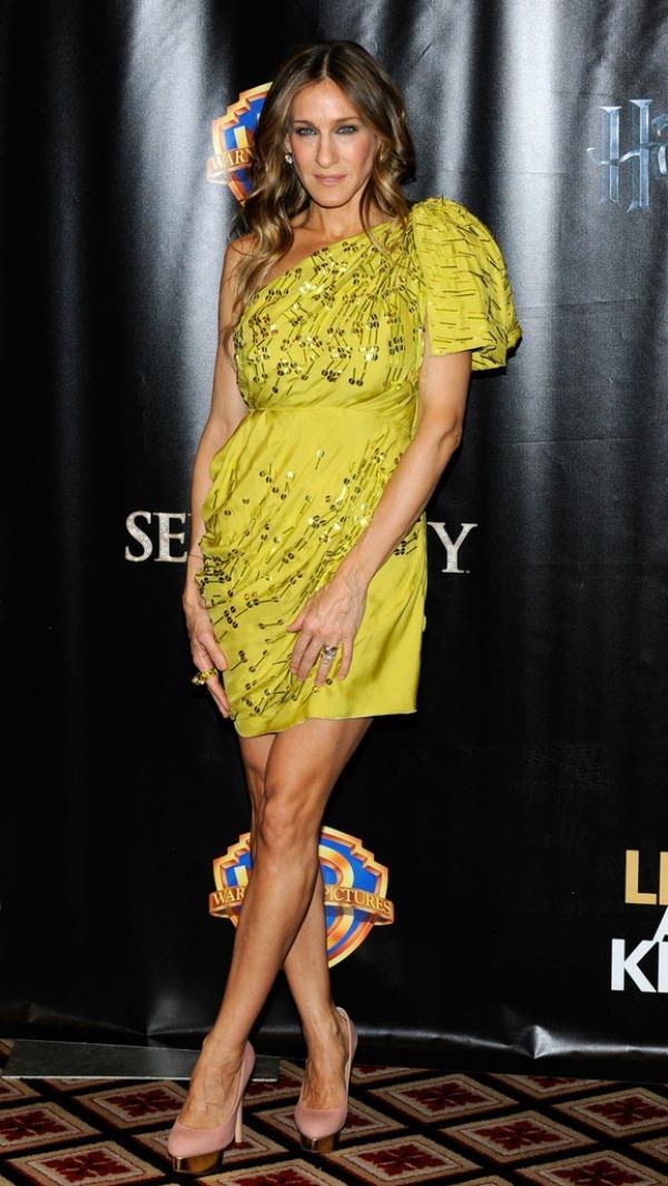 Sarah Jessica Parker 10 Trend sa crvenog tepiha: Žute haljine