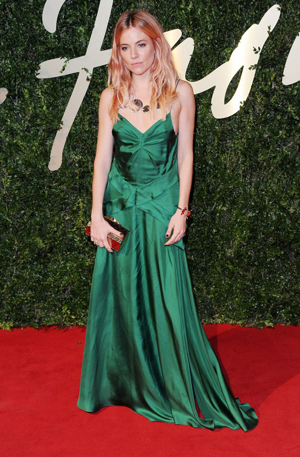 Sienna Miller attends the British Fashion Awards 2877000 Fashion Police: British Fashion Awards 2013