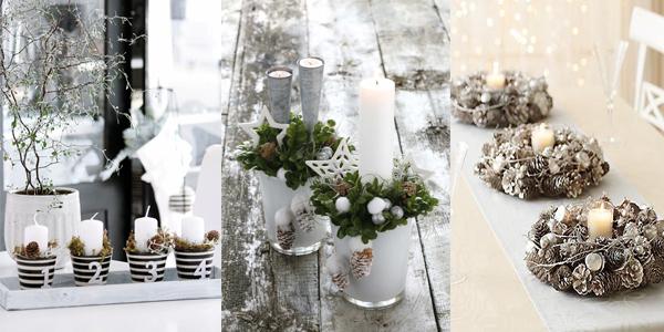 Srebrno bela dekoracija Praznični ambijent: Najlepše dekoracije sa svećama