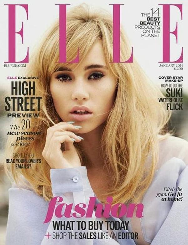 """Suki Waterhouse UK Elle January 2014 """"Elle"""": Januarske naslovnice"""
