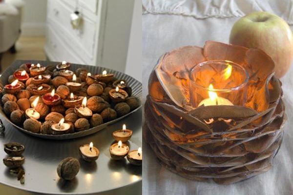 Svece od oraha i sisarke Praznični ambijent: Najlepše dekoracije sa svećama
