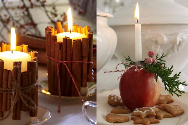 Svece u cimetu i jabuci Praznični ambijent: Najlepše dekoracije sa svećama