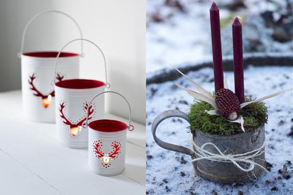 Svece u limenim kanticama Praznični ambijent: Najlepše dekoracije sa svećama
