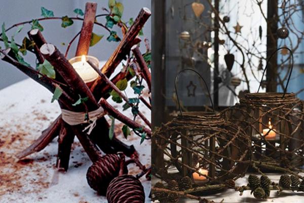 Svecnaci od grancica Praznični ambijent: Najlepše dekoracije sa svećama