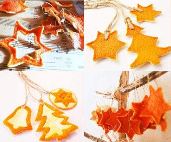 Ukrasi od kore narandze Šuma u vašem domu: Novogodišnja dekoracija