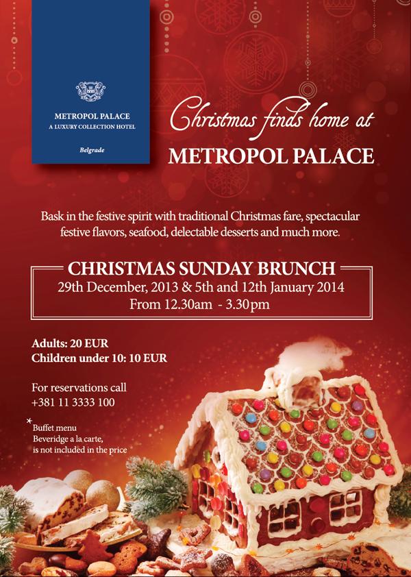 """Xmas brunch """"Metropol Palace"""": Vreme je za Christmas brunch"""