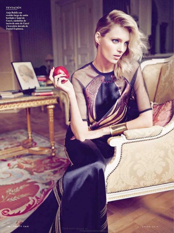 anja rubik 2014 6 Vanity Fair Spain: Anja Rubik i glamur