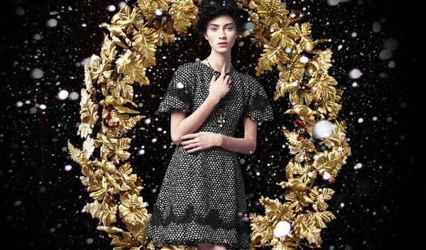 embedded Dolce   Gabbana holiday 2013 ad campaign Dolce & Gabbana: Zlatni praznici