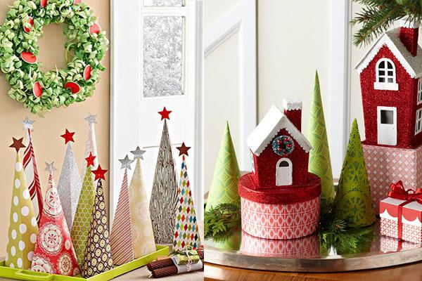 jelke od papira Novogodišnje drvce u malom prostoru