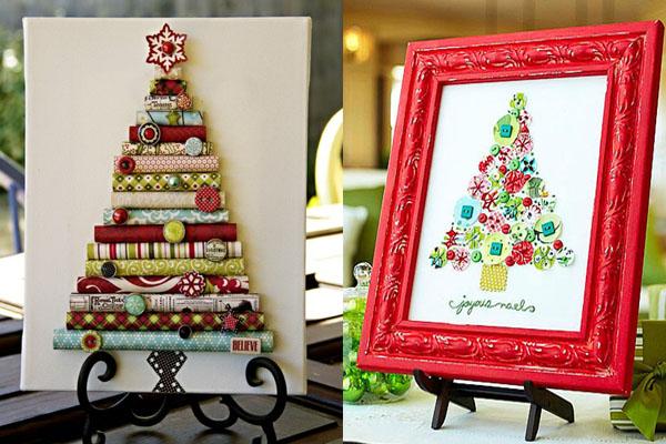 jelke u ramu Novogodišnje drvce u malom prostoru