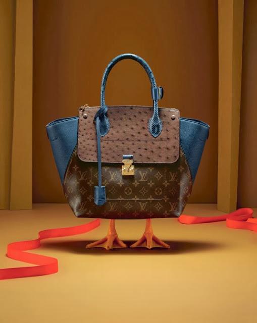 louis vuiton dung vit thay nguoi mau chup hinh quang cao 8 Louis Vuitton: Praznični katalog