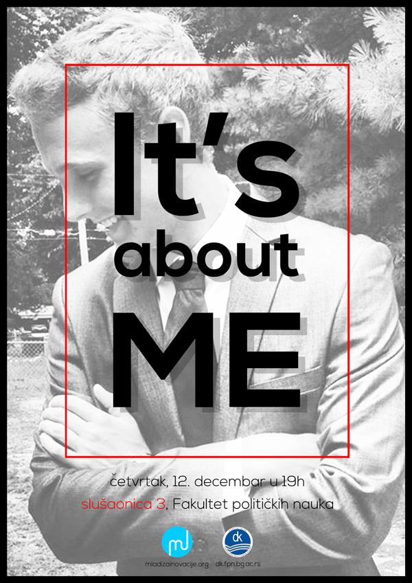 "plakat copy ""It's about me"", prva online konferencija"
