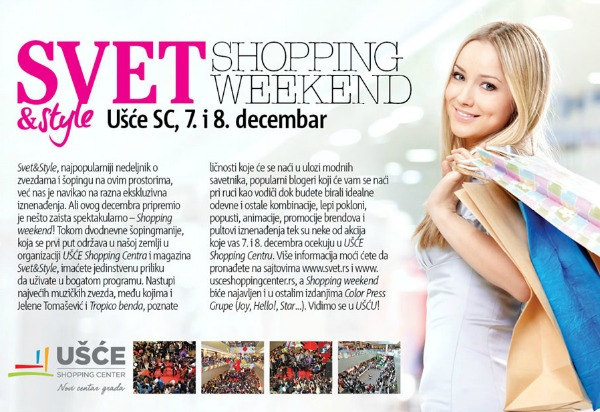 shopping weekend pozivnica Svet&Style shopping weekend