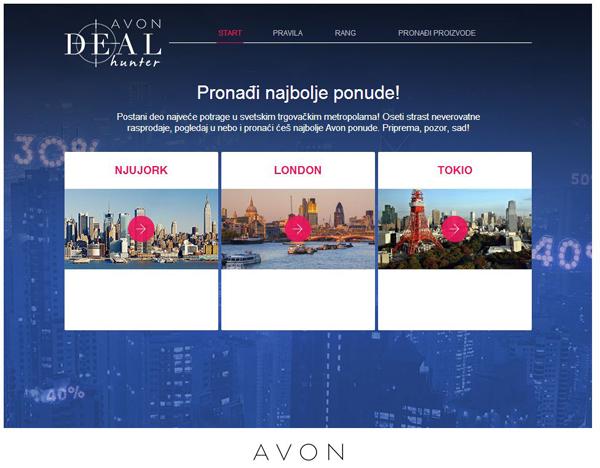 Avon Deal Hunter Zaviri u svet Avon praznične rasprodaje i postani deo nezaboravnog putovanja