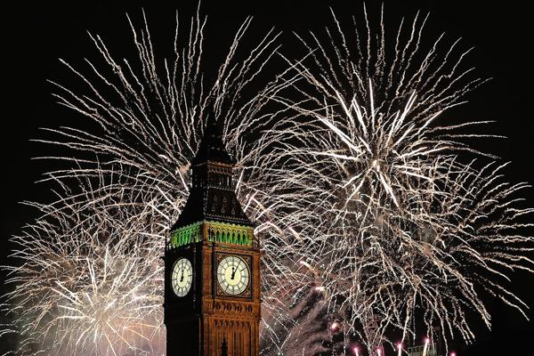 Big Ben surrounded fireworks midnight Najbolje fotografije sa dočeka Nove godine širom sveta