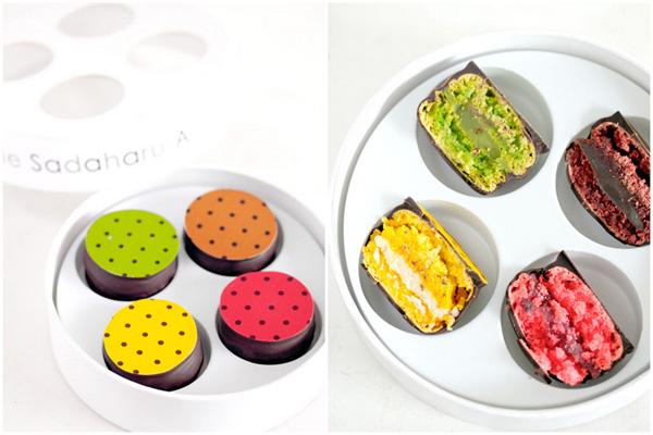 Cetiri makarona u kutiji Autentične slatke kuće u Parizu: Macarons