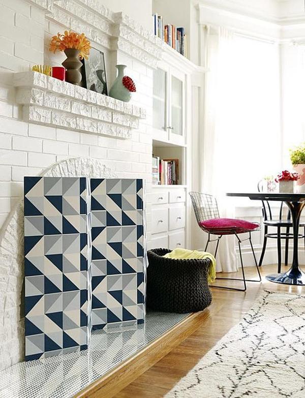 DIY Fireplace Screen Uradi sama: Tapete na sve načine