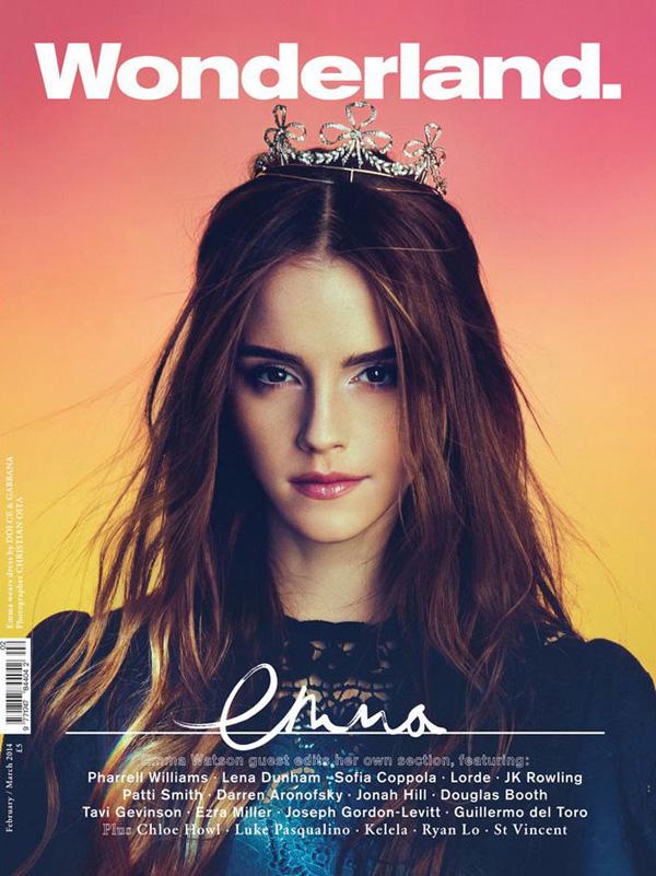 Emma Watson Wonderland 01 Dve bajkovite naslovnice za Emu Votson
