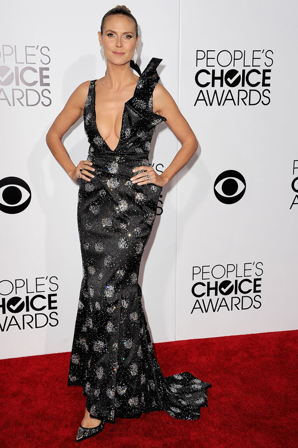 Heidi Klum sported her signature sexy look People Choice Awards Fashion Police: Peoples Choice Awards 2014