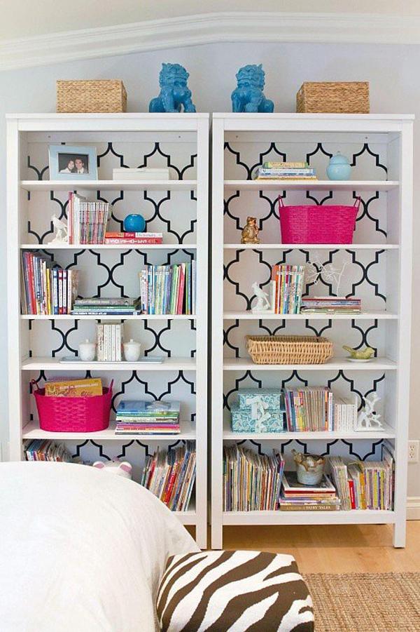 Make Bookcase Pop Uradi sama: Tapete na sve načine