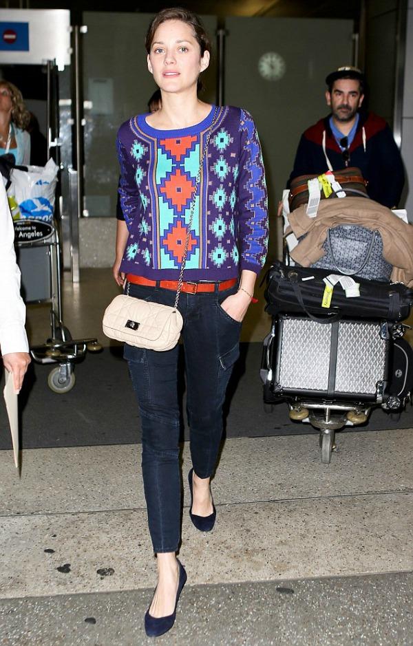 Marion kotijar dzemper sa printom 10 odevnih kombinacija: Marion Cotillard