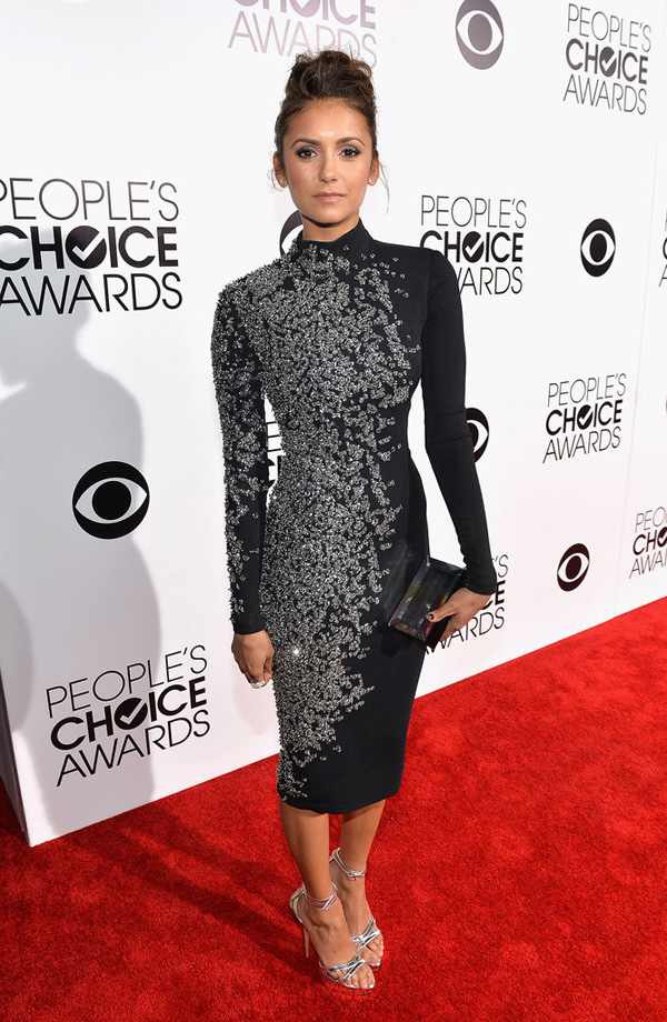 Nina Dobrev looked super hot People Choice Awards Fashion Police: Peoples Choice Awards 2014