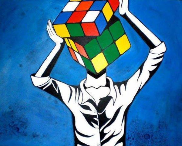 Rubikova kocka Sa svima u miru živim, sa sobom se borim stalno