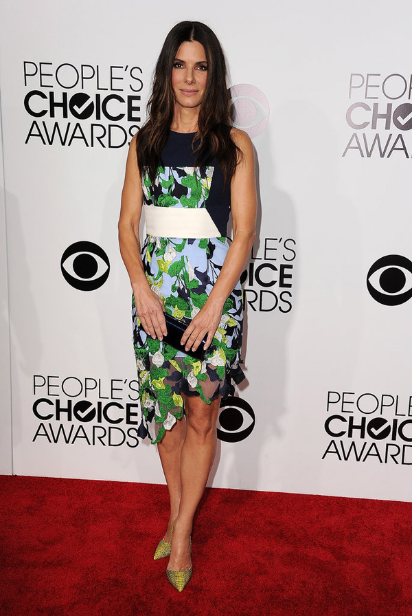 Sandra Bullock belle ball she arrived PCAs Fashion Police: Peoples Choice Awards 2014