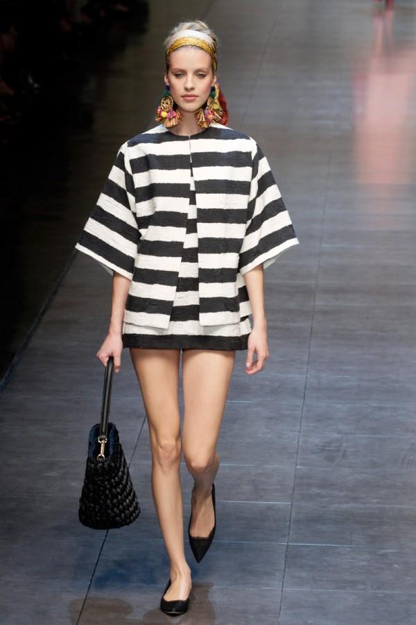 Spring Fashion 2013 Trend Stripes Dolce and Gabbana 600x900 Trendovi sa modnih pista koji su obeležili godinu za nama