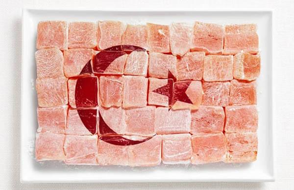 national flag made food14 Zastave prste da poližeš