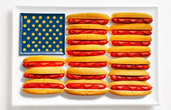 national flag made food5 Zastave prste da poližeš