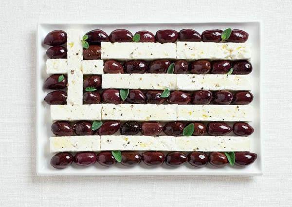 national flag made food6 Zastave prste da poližeš