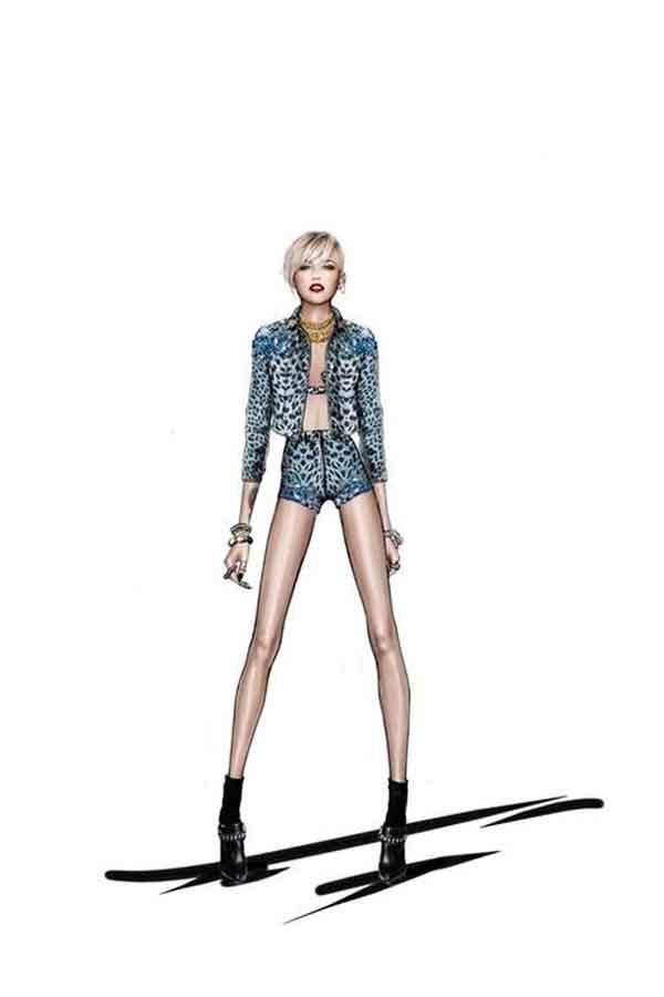 roberto cavalli miley cyrus vogue 2 20jan14 pr b 592x888 Roberto Cavalli i Miley Cyrus rade na novom projektu