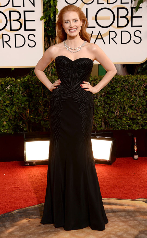 rs 634x1024 140112165053 634.jessica chastain golden globes 011214 Fashion Police: Golden Globes 2014
