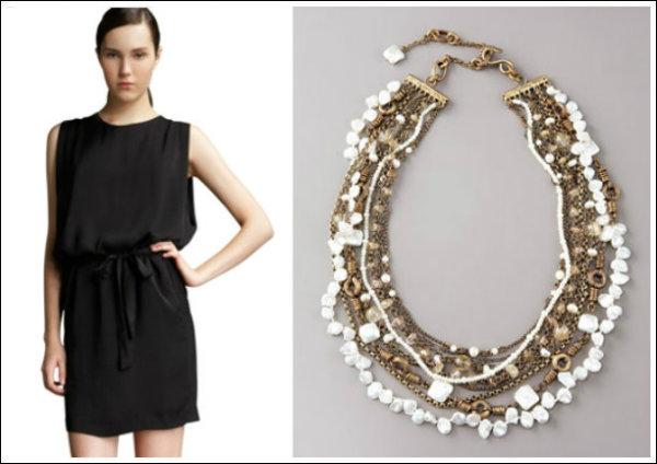 10 Modern LBDPearl Combinations 1 Mala crna haljina i biseri