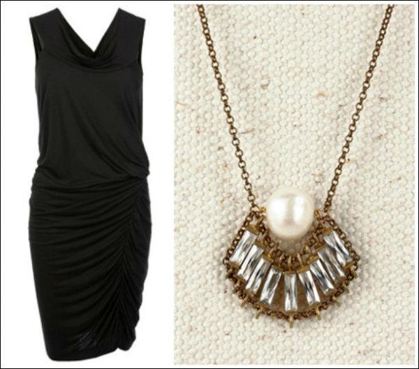 10 Modern LBDPearl Combinations Mala crna haljina i biseri