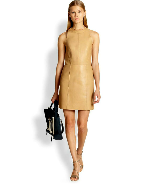 31 Phillip Lim Leather Dress Krem je nova crna