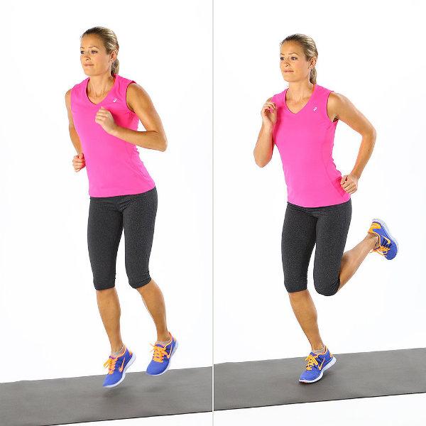 Butt Kickers Brzo zagrevanje: Pet minuta, pet pokreta