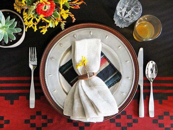 Dekoracija tanjira  Dekoracija u indijanskom stilu