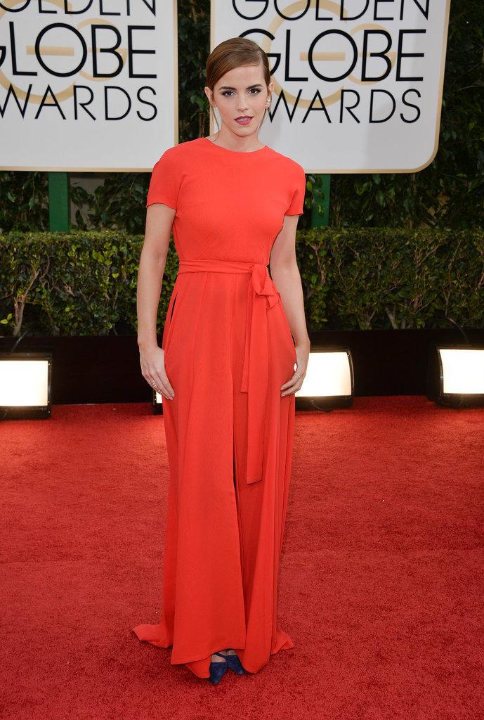 Emma Watson Golden Globes Dior na crvenom tepihu