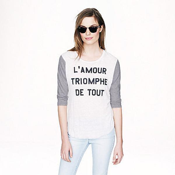 J Crew LAmour Triomphe Tee Učimo francuski, a volimo modu