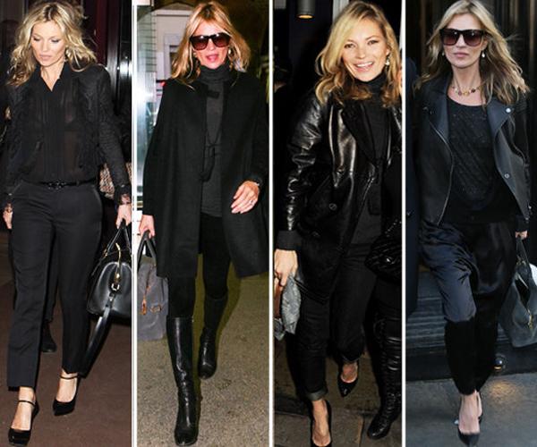 Kate Moss Black Black Style Lekcije o stilu Kejt Mos