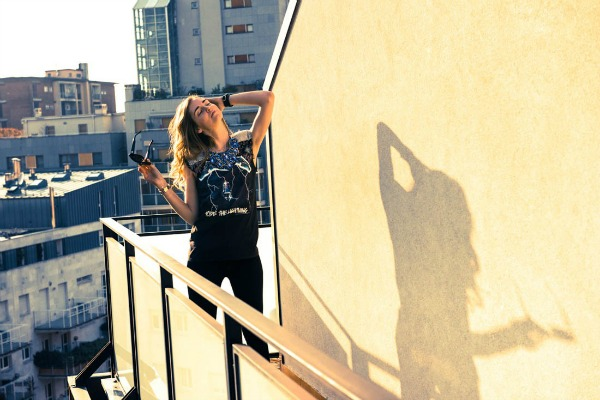 Kijara Feranji terasa 1  Zavodljiv enterijer doma poznate blogerke: Kjara Feranji