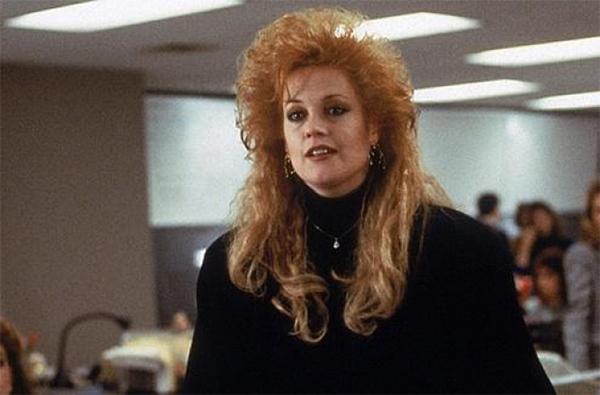 Melanie Griffith Working Girl 10 najgorih filmskih frizura