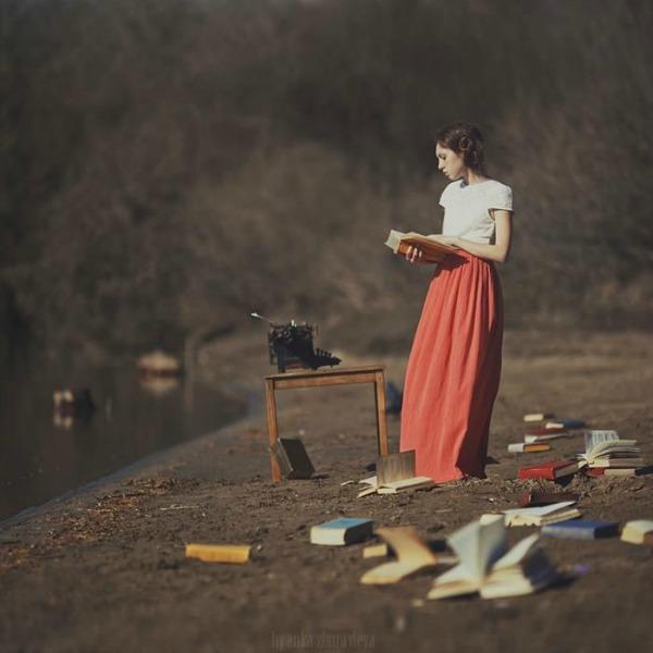 Muza Crtanje pomoću svetlosti: Fotograf Anka Zuravleva