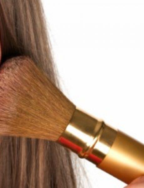 Četka za nanošenje rumenila kao važan pribor za šminkanje