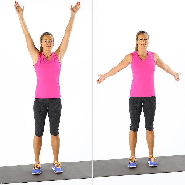 Overhead Arm Circles Brzo zagrevanje: Pet minuta, pet pokreta